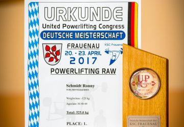 Deutscher Meister im Powerlifting des UPC 2017