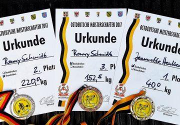 Gold, Silber & Bronze bei der Ostdeutschen Meisterschaft 2017