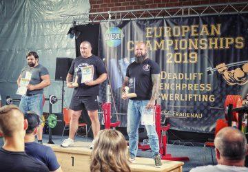 Silber und Bronze bei der Powerlifting Europameisterschaft der WUAP 2019